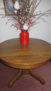Dark Solid Wood Dining Table
