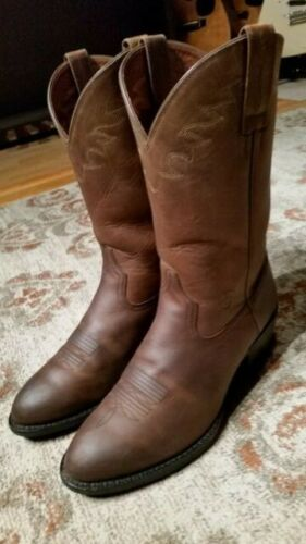 ARIAT, SEDONA, DISTRESSED, OILED, BROWN, LEATHER, ROPER, COWBOY, BOOTS, #34625, MENS, 9.5D