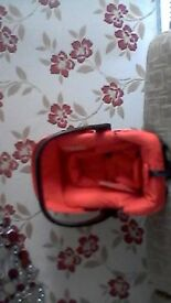 RED CAR SEAT UNUSED