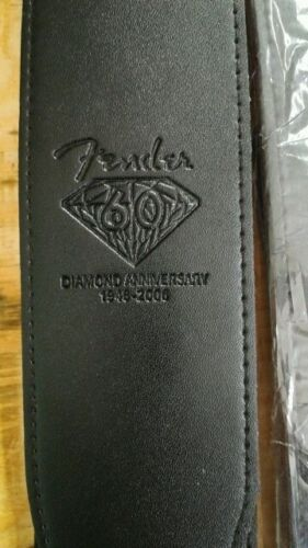 "Fender Diamond 60th Anniversary NOS 2.5"" Wide Soft Black Gui"