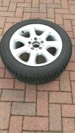 Winter tyres and alloy wheels. Set of 4. Good condition.