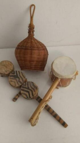 Small African Percussion Vintage Instruments Lot of 3           s