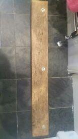 Rustic oak shelf