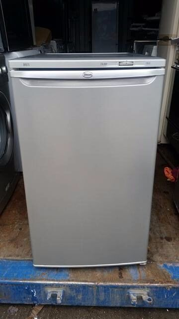 Silver 'Swan' Undercounter Fridge - Good Condition / Free local delivery