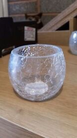 30 clear/cracked effect tea lights