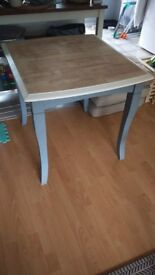 Upcycled extendable dining table