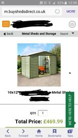 10x12 metal shed dismantled