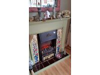 Exlectric fire place and surround