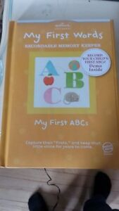 "HALLMARK ""My First Words"" Recordable Memory Keeper- NEW"
