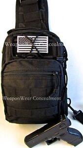 HEAVY DUTY Tactical SLING Go GEAR Bag Gun Concealment  Holster BLACK FREE GIFT