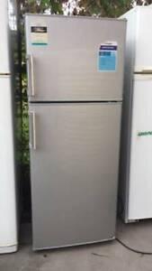 silver 337 liter hisense fridge ,   it is good working order.   Diment