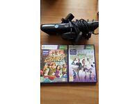 Xbox 360 Kinect Sensor and 2 Games