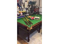 """Snooker table 7ft 6"""" x 4ft nice table"""