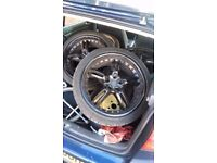 DEEP DISH BK ALLOYS for VW GOLF PASSAT AUDI SEAT 5X112 £180