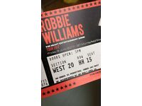 Robbie Williams Murray Field Concert Tickets