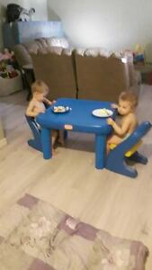 little tikes kids plastic table with 2 chairs