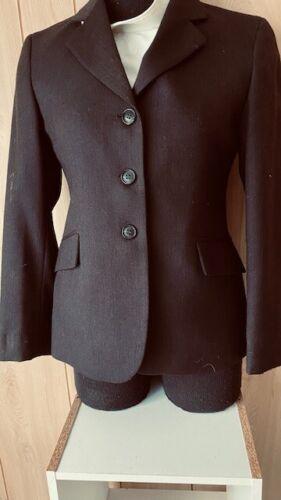 RJ Classic COMPETITION Hunt COAT Youth 16 *Brown Herringbone *VGC Wool Blend