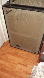 1968 Fender Bassman cab with Eminence Red Coat speakers