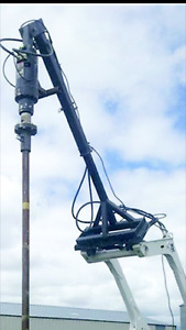 screw pile installation auger and jib