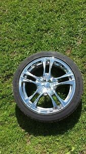 17 Inch Chrome Rims and tires for sale.