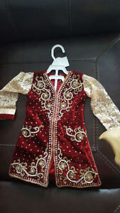 Indian Pakistani style 4 pcs Baby Girl dress suit 18mo - 3 yrs