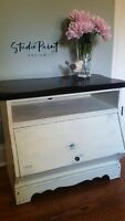 Painted Media Cabinet - Perfect for Small Space!