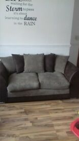 3&2 brown sofas