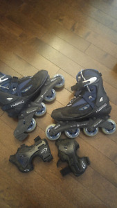 Ultra wheels roller blades size 9 almost new for men