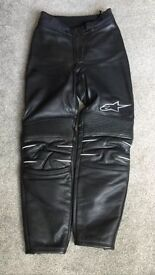 Ladies Alpinstar Leather Motorcycle Trousers