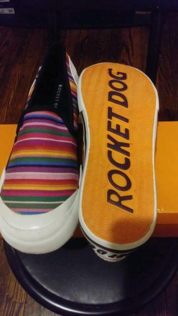 Rocket Dog JAZZIN SLIP ON STRIPE Ladies Sneakers Trainers Mu