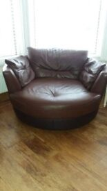 Dfs real leather swivel chair