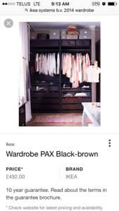 PAX Wardrobe system from IKEA