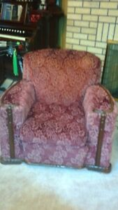 Vintage chesterfield and armchair