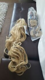 Synthetic hair in clip from hair city... never used