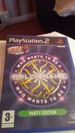 play station 2 who wants to be a millionaire party edition