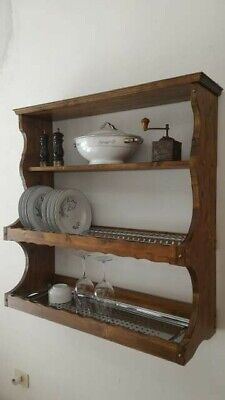Piattaia credenza pensile mensola scolapiatti cucina legno massello