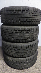 4 Winter Tires on Rims - Yokohama Ice Guard 195/60R14 86R