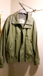 LETHER MEN'S JACKET size M