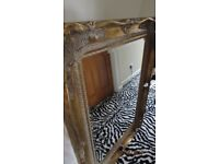 LARGE GOLD ORNATE WALL MIRROR