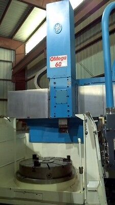 1991 O-m Omega 60 Vert Boring Mill Vtl 67k Tooling Fanuc 15t 58 Swing 43 Chuck