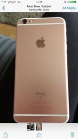 Apple iPhone 6s Plus rose gold 16g GiffGaff