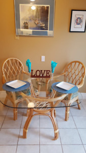 5 Piece Rattan Table and chairs
