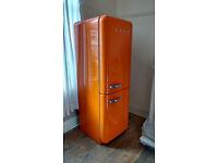 Retro Orange Smeg Fridge Freezer