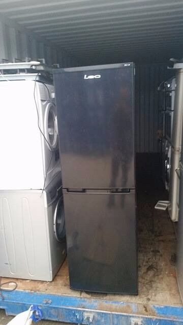 Black 'Lec' Fridge Freezer -Excellent Condition / Free local delivery