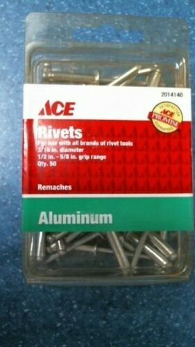 Ace 2014140 Rivets 3/16in diameter QTY 50, FREE SHIPPING