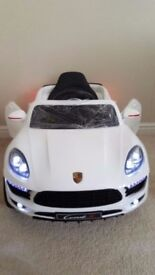 🎁🎄 kids 12 volt electric white porschie jeep brand new 🎄🎁