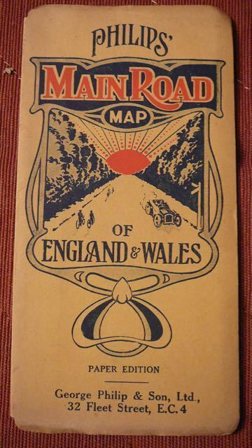 Philips Main Road Map - England & Wales - 1930s?