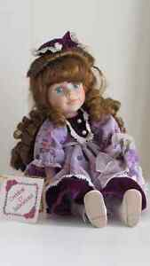 MUSICAL Porcelain DOLL with Certificate of Authenticity