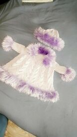 hand knitted lilac set