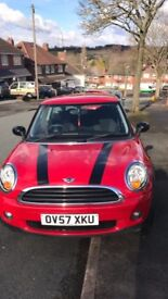 RED MINI HATCH ONE 1.4 PETROL, SERVICE HISTORY, LOW MILEAGE MOT NICE AND TIDY 57 PLATE